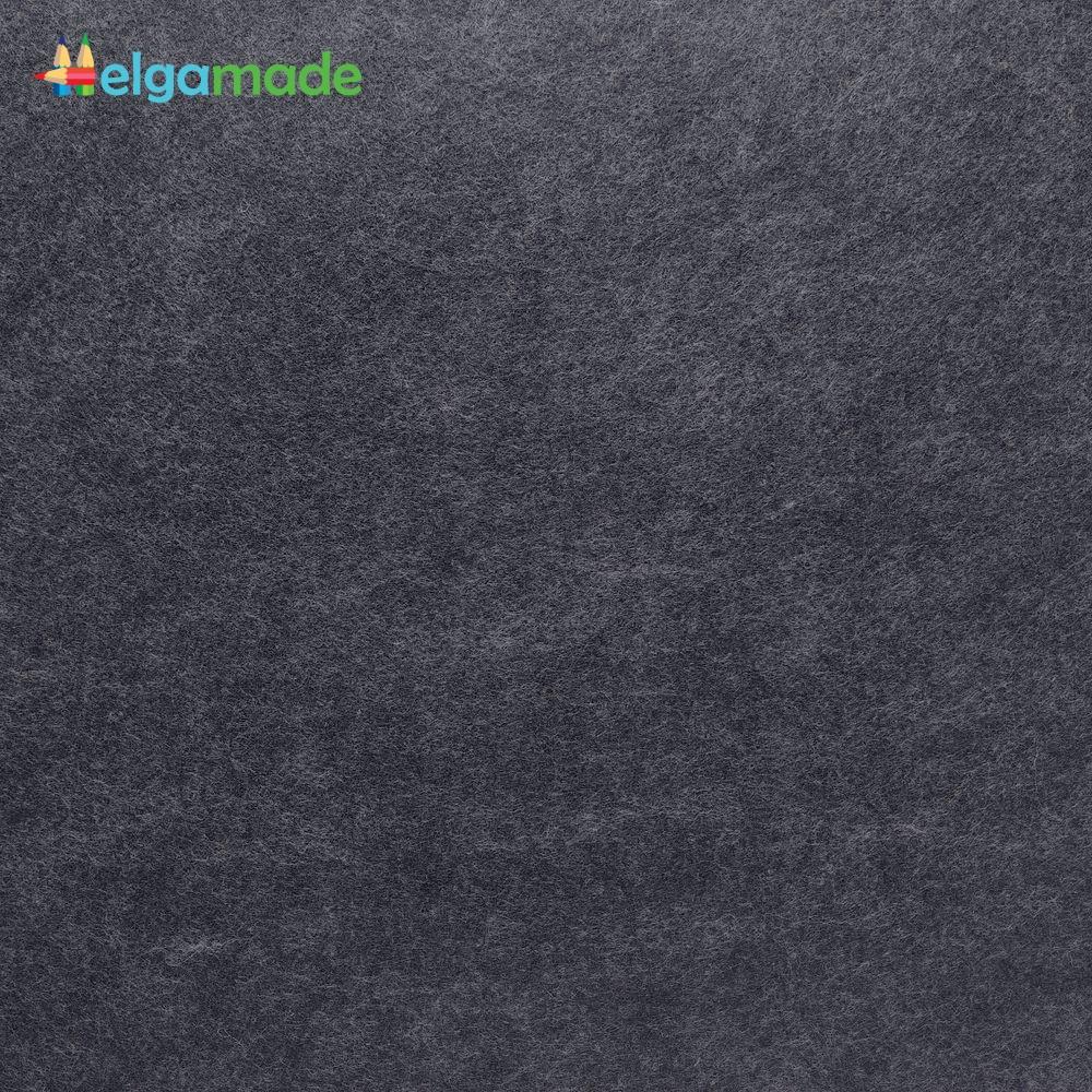 Фетр американский ЛАКРИЦА, 15x23 см, 1.3 мм, полушерстяной мягкий