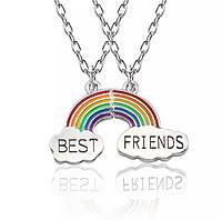 Кулон из 2 частей радуга best friends