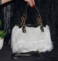 Белая меховая сумочка, фото 1