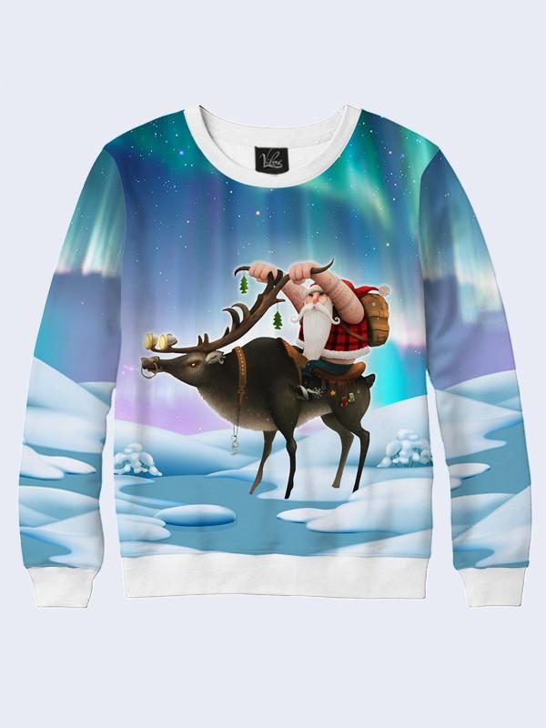 Свитшот Санта на олене
