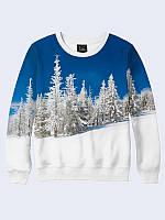 Свитшот Белоснежный зимний лес