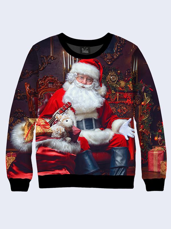 Cвитшот Санта Клаус с подарками