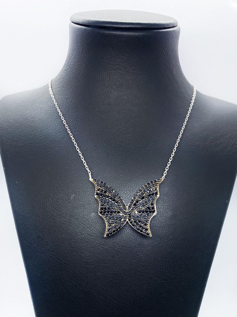 "Кулон з срібла 925 Beauty Bar ""Метелик Swarovski"""