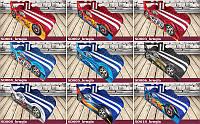 Кровать машина Тачки ШОК комплект со встроенным матрасом 1500х700 Габариты: 1740 Х 836 + подъемный механизм