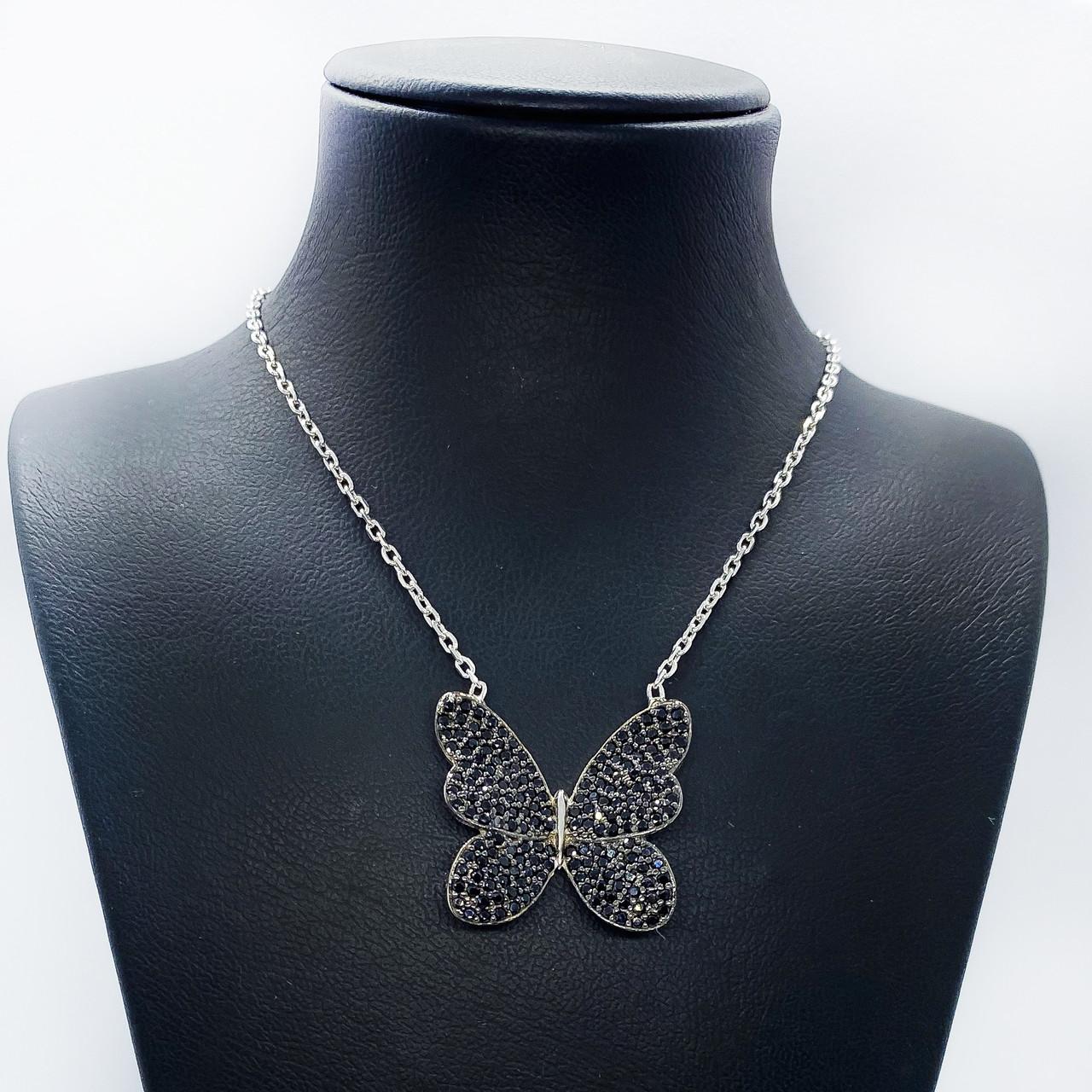 """Кулон з срібла 925 Beauty Bar """"Метелик Swarovski 50 см"""""""