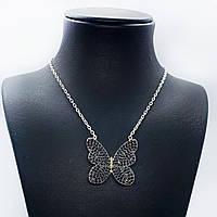 """Кулон з срібла 925 Beauty Bar """"Метелик Swarovski 50 см"""", фото 1"""