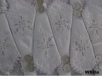 Скатерть с кружевом KAYAOGLU Kamelya 12пр. 160х240 с кольцами и салфетками.