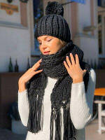 Набор женский шарф и шапка вязка
