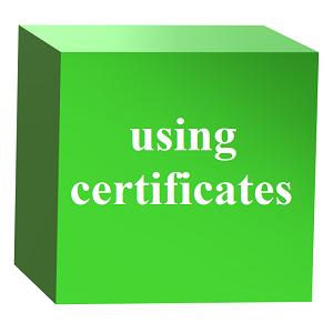 Посилена аутентифікація з використанням сертифікатів (using certificates)