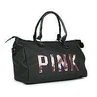 Сумка женская PINK ЧЕРНАЯ, Сумка для путешествий, Сумка женская, Спортивная сумка, Дорожная сумка