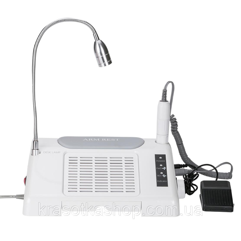 Багатофункціональне обладнання 3в1 (фрезер, лампа, витяжка) Nail Salon Expert Machine TP808