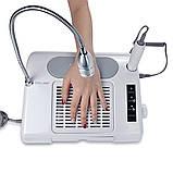 Багатофункціональне обладнання 3в1 (фрезер, лампа, витяжка) Nail Salon Expert Machine TP808, фото 3