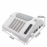 Багатофункціональне обладнання 3в1 (фрезер, лампа, витяжка) Nail Salon Expert Machine TP808, фото 4