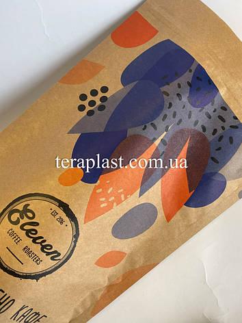 Пакет Дой-Пак крафт+металл 1кг 210х380 с печатью 3 цвета, фото 2