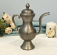 Коллекционный оловянный кувшин, чайничек, пищевое Олово, Zinn Германия, фото 1