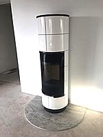 Кафельная печка Delia Plus белая ( каминофен, изразцовая печь, аккумуляционная печь )., фото 1