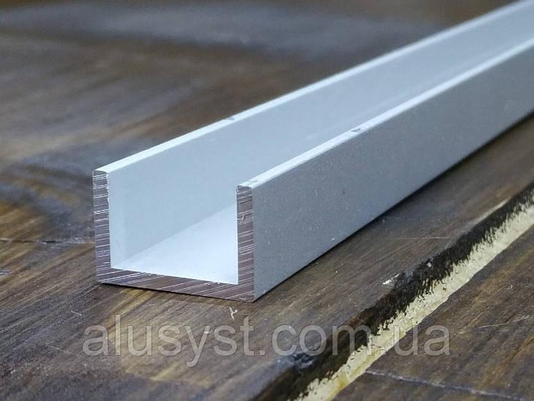 Алюмінієвий швелер 15х10х1,5| П профіль, Анод