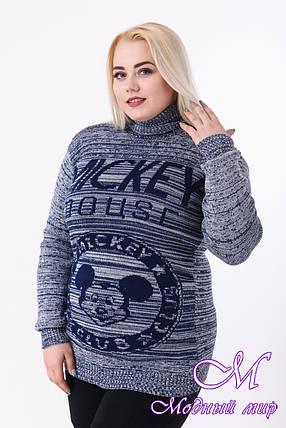 Женский теплый свитер батал (ун. 52-58) арт. К-13-89, фото 2