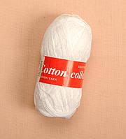 """Пряжа """"Зірочка. Cotton collection"""", колір - Білосніжний"""