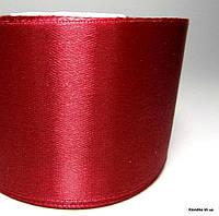 Лента атласная, 5 см, Цвет: Красный (5 метров/уп.)