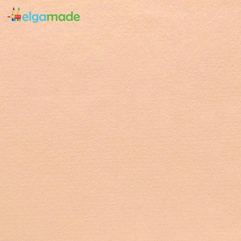 Фетр американский СЛИВОЧНЫЙ КРЕМ, 31x46 см, 1.3 мм, полушерстяной мягкий