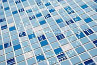 """Декоративные панели ПВХ МОЗАИКА """"синяя  1шт.. 0,956*0,48"""