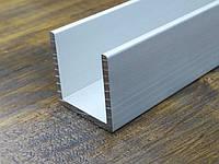 Алюминиевый швеллер 20х20х1,5| П профиль, Анод, фото 1