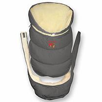 """Зимний пуховый конверт """"Alaska 2в1"""", от 0 до 12 мес. Подкладка - мех, фото 3"""