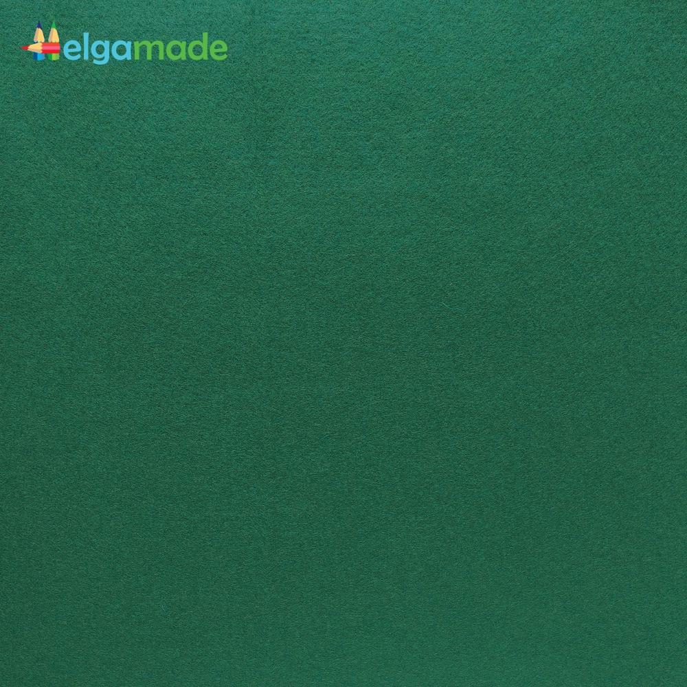 Фетр американский ОХОТНИЧИЙ ЗЕЛЕНЫЙ, 23x31 см, 1.3 мм, полушерстяной мягкий