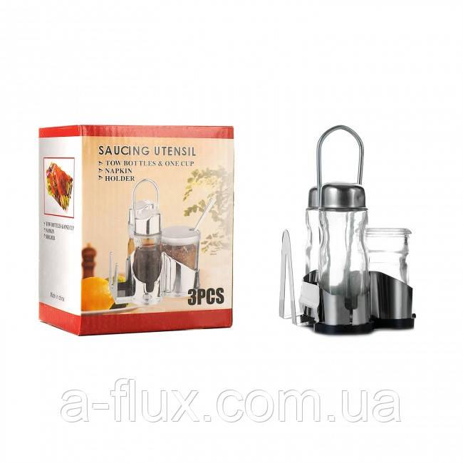 Набор для специй: соль, перец, салфетник, емкость для зубочисток Китай 6075