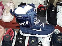 """Женские зимние высокие кросовки-дутики """"Nike"""""""