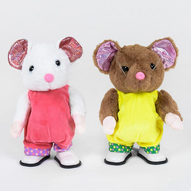 Интерактивная мягкая игрушка Мышка С 38868 28 см ходит, поет, рус