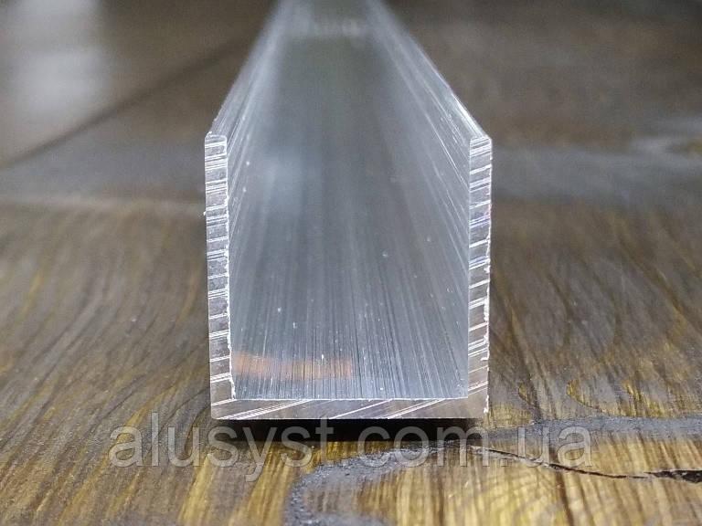 Швеллер алюминий 20х20х1,5| П образный профиль Без покрытия