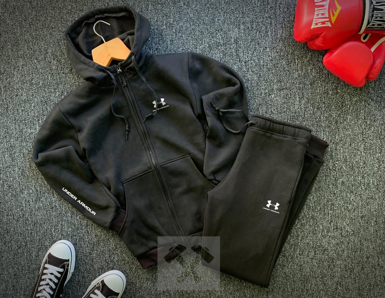 Мужской зимний спортивный костюм в стиле Under Armour