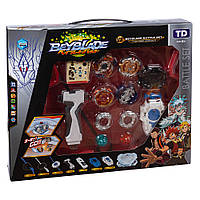 Набор блейдов Beyblade Battle Set (Бейблейд B122 Фафнир, B115 Геркулес, B117 Феникс, B118 Леопард + арена 35 см)