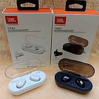 Беспроводные Bluetooth наушники JBL TWS 4 (черные и белые), блютуз гарнитура ЖБЛ ТВС 4 с зарядным кейсом
