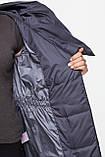 Довга зимова куртка KTL з асиметричним коміром, графіт, фото 3