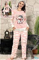 Теплые пушистые пижамы с повязкой и тапочками