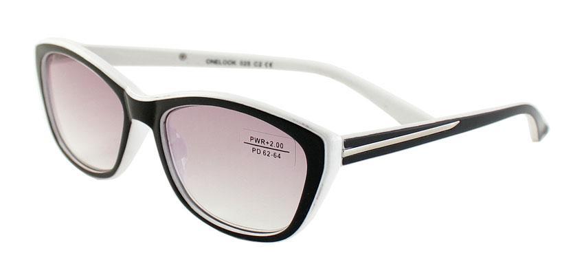 Готовые очки  +2.0  тонировка серая