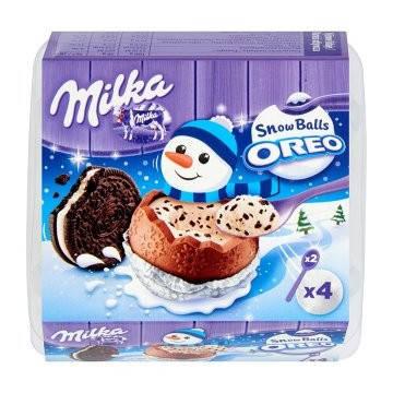 Шоколадные шарики  Milka Snow Balls Oreo  4 x 28g, фото 2