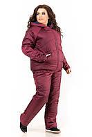 Женский зимний спортивный костюм Большого размера плащевка на овчинке пр-во Украина  F1925HG