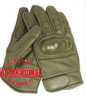 Перчатки тактические Mil-Tec TACTICAL OD LEATHER GLOVES (олива)