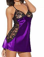 Бебидолл фиолетовый с кружевным лифом