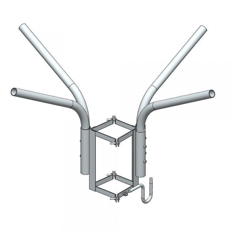 Кронштейн четырёхрожковый с крюком KR4k 400/51-15 ET ElectroTorg (ЭлектроТорг)