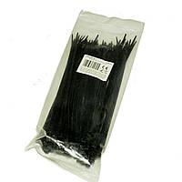Хомут монтажний пластиковий 3.6x200мм чорний  NAR0046-20 упак.100шт