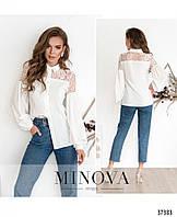 Рубашка №1064-белый белый/46
