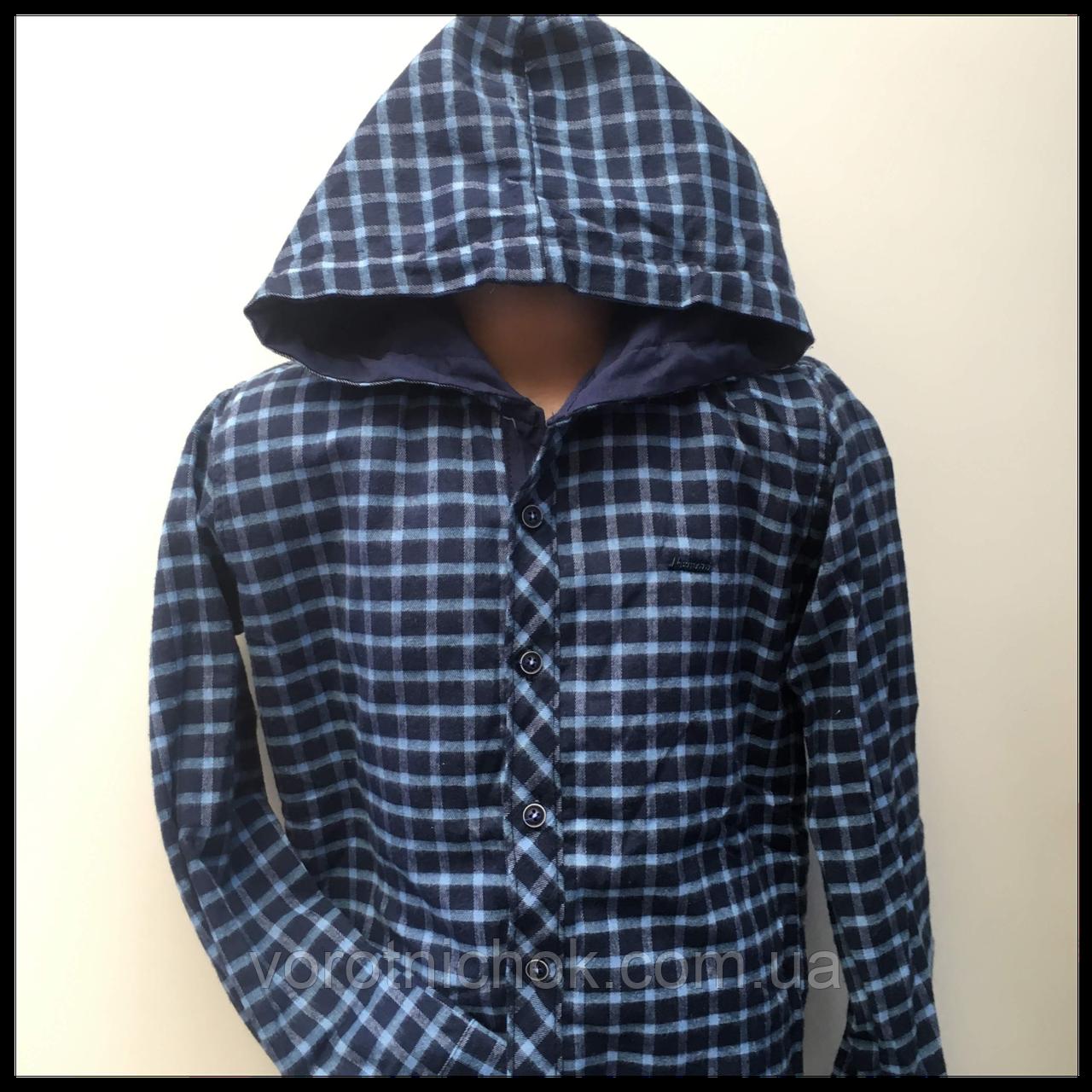 Рубашка теплая с капюшоном, для мальчика 10-14 лет