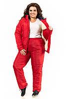 Женский теплый спортивный костюм Большого Размера плащевка на овчинке пр-во Украина  F1925HG