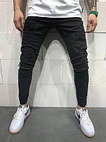 Мужские джинсы зауженные 2Y Premium 4796 black