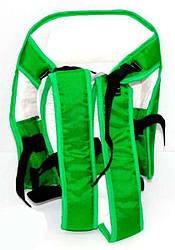 Рюкзак-кенгуру №6 сидя, цвет зелёный. Предназначен для детей с трехмесячного возраста